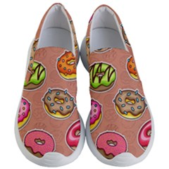 Doughnut Doodle Colorful Seamless Pattern Women s Lightweight Slip Ons