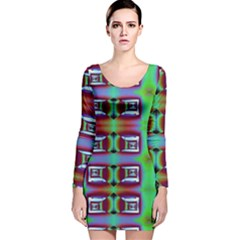 Corridor Nightmare Long Sleeve Velvet Bodycon Dress by ScottFreeArt