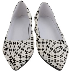 Black And White Ethnic Print Women s Block Heels  by dflcprintsclothing