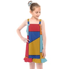Dotted Colors Background Pop Art Style Vector Kids  Overall Dress by Amaryn4rt