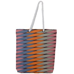 Zappwaits Pattern Full Print Rope Handle Tote (large) by zappwaits