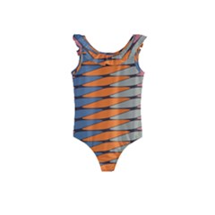 Zappwaits Pattern Kids  Frill Swimsuit
