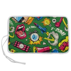 Pop Art Colorful Seamless Pattern Pen Storage Case (m) by Amaryn4rt
