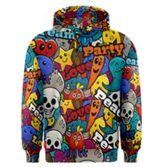 Graffiti Characters Seamless Pattern Men s Core Hoodie