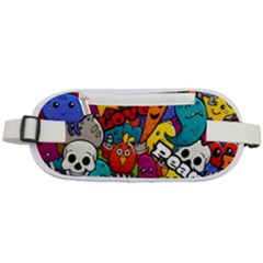Graffiti Characters Seamless Pattern Rounded Waist Pouch