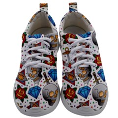 Full Color Flash Tattoo Patterns Mens Athletic Shoes by Amaryn4rt