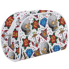 Full Color Flash Tattoo Patterns Makeup Case (large) by Amaryn4rt