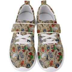 Tattoo Pattern Men s Velcro Strap Shoes