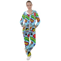 Comic Bubbles Seamless Pattern Women s Tracksuit by Amaryn4rt