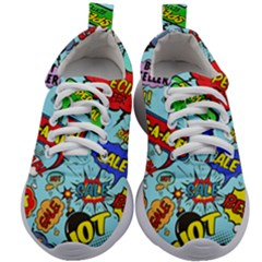 Comic Bubbles Seamless Pattern Kids Athletic Shoes