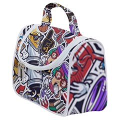 Vintage College Colorful Seamless Pattern Satchel Handbag