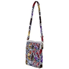 Vintage College Colorful Seamless Pattern Multi Function Travel Bag