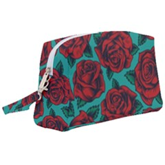 Vintage Floral Colorful Seamless Pattern Wristlet Pouch Bag (large)