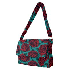 Vintage Floral Colorful Seamless Pattern Full Print Messenger Bag (m) by Amaryn4rt