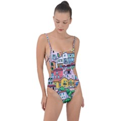 Menton Old Town France Tie Strap One Piece Swimsuit