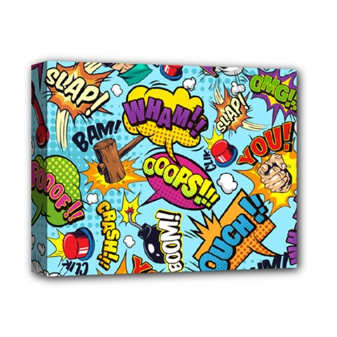 Comic Elements Colorful Seamless Pattern Deluxe Canvas 14  X 11  (stretched)
