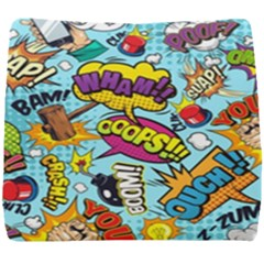 Comic Elements Colorful Seamless Pattern Seat Cushion