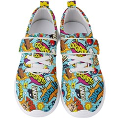 Comic Elements Colorful Seamless Pattern Men s Velcro Strap Shoes by Amaryn4rt