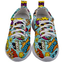 Comic Elements Colorful Seamless Pattern Kids Athletic Shoes by Amaryn4rt