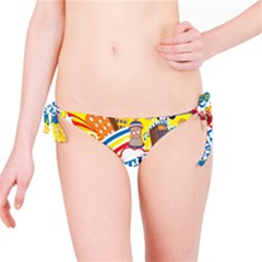 Colorful City Life Horizontal Seamless Pattern Urban City Bikini Bottom