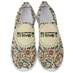 Seamless Pattern With Flower Birds Men s Slip On Sneakers by Amaryn4rt