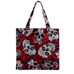 Vintage Day Dead Seamless Pattern Zipper Grocery Tote Bag by Amaryn4rt