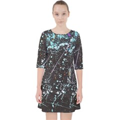 Abstract Colorful Texture Pocket Dress