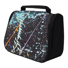 Abstract Colorful Texture Full Print Travel Pouch (small)