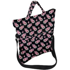 Floral Print Fold Over Handle Tote Bag by Saptgram