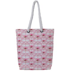 Love Birds Full Print Rope Handle Tote (small)