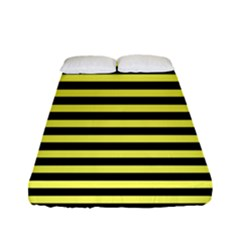 Wasp Stripes Pattern, Yellow And Black Lines, Bug Themed Fitted Sheet (full/ Double Size)