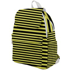 Wasp Stripes Pattern, Yellow And Black Lines, Bug Themed Top Flap Backpack by Casemiro