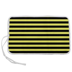 Wasp Stripes Pattern, Yellow And Black Lines, Bug Themed Pen Storage Case (s) by Casemiro
