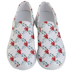 Poppies Pattern, Poppy Flower Symetric Theme, Floral Design Men s Lightweight Slip Ons by Casemiro