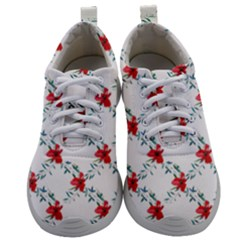 Poppies Pattern, Poppy Flower Symetric Theme, Floral Design Mens Athletic Shoes by Casemiro