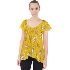 Honeybees Lace Front Dolly Top