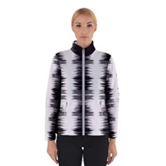 Black And White Noise, Sound Equalizer Pattern Winter Jacket by Casemiro