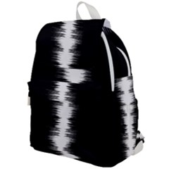 Black And White Noise, Sound Equalizer Pattern Top Flap Backpack by Casemiro