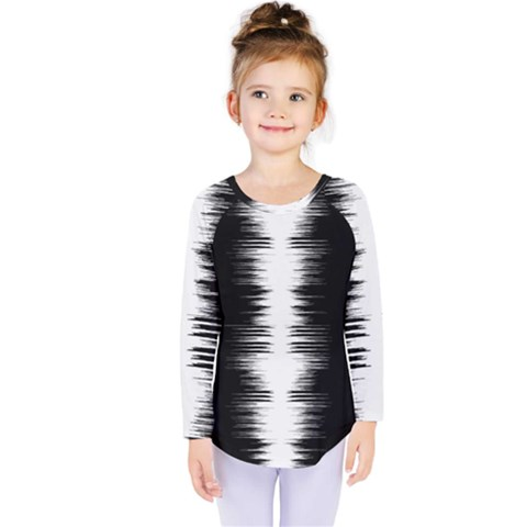 Black And White Noise, Sound Equalizer Pattern Kids  Long Sleeve Tee by Casemiro