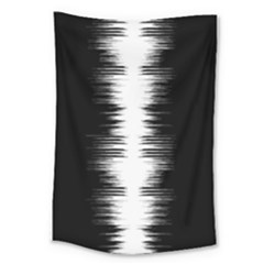Black And White Noise, Sound Equalizer Pattern Large Tapestry by Casemiro