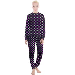 White And Pink Hearts At Black, Vector Handrawn Hearts Pattern Women s Lounge Set