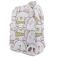 Cute-baby-animals-seamless-pattern Classic Backpack by Sobalvarro