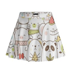 Cute-baby-animals-seamless-pattern Mini Flare Skirt by Sobalvarro