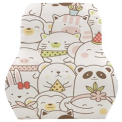 Cute-baby-animals-seamless-pattern Car Seat Back Cushion  by Sobalvarro