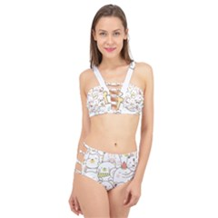 Cute-baby-animals-seamless-pattern Cage Up Bikini Set by Sobalvarro