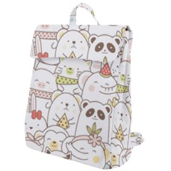Cute-baby-animals-seamless-pattern Flap Top Backpack by Sobalvarro