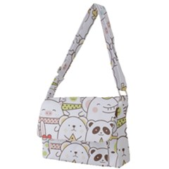 Cute-baby-animals-seamless-pattern Full Print Messenger Bag (s) by Sobalvarro