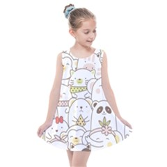 Cute-baby-animals-seamless-pattern Kids  Summer Dress by Sobalvarro