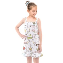 Cute-baby-animals-seamless-pattern Kids  Overall Dress by Sobalvarro
