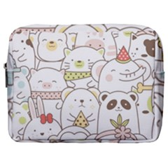Cute-baby-animals-seamless-pattern Make Up Pouch (large) by Sobalvarro